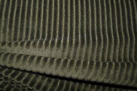 Hose - KN 0729-215 Jersey corduroy armeegrün