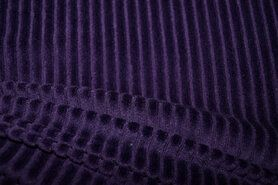 Samtweiche - KN 0729-800 Jersey corduroy dunkelblau