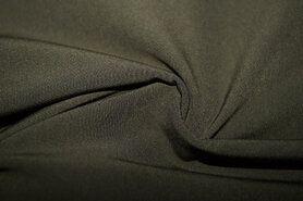 Polyester en elastan - KN20/21 0854-215 Bi-stretch legergroen
