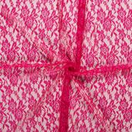 Laagjes kleding stoffen - NB 3958-017 Kant gebloemd fuchsia