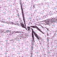 Hart stoffen - NB20/21 Dapper 15531-012 Katoen maritiem hart/bloem roze