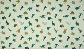 Tricot - KC1553-022 Tricot dino's small dusty groen