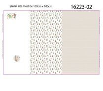 2021 - Stenzo20/21 16223-02 Tricot digitaal paneel Cute Rabbit wit/beige