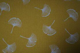 Dekoration und Einrichtung - KN20/21 17978-570 Baumwolle Dipinto Ginkgo gelb