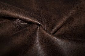 Polyester stof - KN20/21 17120-100 Scuba suede leather donkerbruin