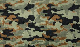Plaid - KC4015-227 Fleece jacquard legerprint khaki