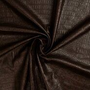 100% polyester - KN20/21 0845-100 Crocolino stretch leather donkerbruin