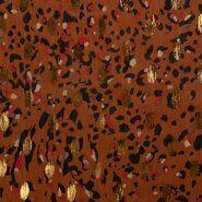 Doorschijnende - KN20/21 17461-445 Chiffon foil african leo terra