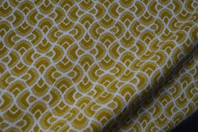Polytex stoffen - Ptx20/21 419004-25 Tricot jacquard abstract oker