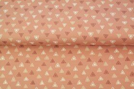 Roze stoffen - Stenzo20/21 16615-12 Tricot triangles oudroze