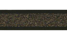 Goldfarbig - Lurexband zwart/goud 30mm (XSS14-375)