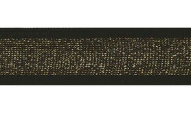 Zwart - Lurexband zwart/goud 30mm (XSS14-375)