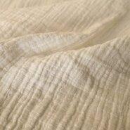 Babykleding stoffen - KN 0800-001 Hydrofielstof uni wit