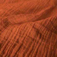 Baumwollstoffe - KN 0800-454 Musselin uni terra
