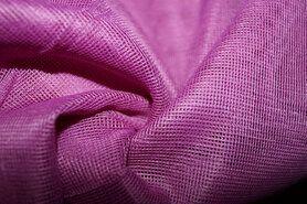 Polyester stof - Vi01 Vitrage grof lichtpaars 2.80 hoog met loodveter