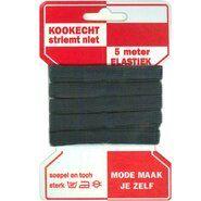 1 cm elastiek - Rode kaart elastiek zwart 10mm