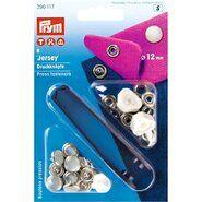 Knöpfe - Prym naaivrijdrukknoop jersey kap parel 12mm 6 stuks (390.117)