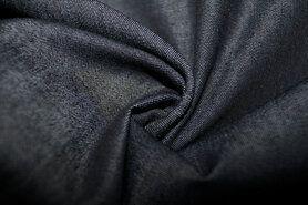 Jeansstoffen - KN 0859-099 Jeans dun zwart gemeleerd