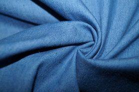 Denim meubelstoffen - NB 0865-052 Jeans dun stretch blauw