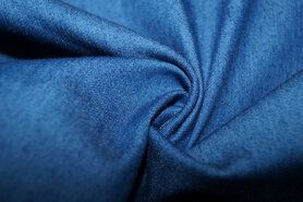 Denim stoffen - NB 0865-053 Jeans dun stretch medium blauw