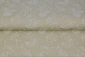 Baumwollstoffe - Stenzo20/21 16130-22 Katoen Flamingo beige