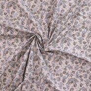 Stoffe Ausverkauf - Ptx20/21 310046-52 Baumwolle paisley Blumen sand