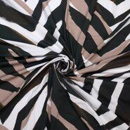 Schwarze Stoffe - Ptx21 310137-20 Katoen zebra zwart/wit/beige