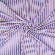 Paarse stoffen - Ptx20/21 311006-62 Katoen polyester streepjes blauw/paars