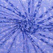 Blauwe vitrages - Ptx21 311031-23 Ausbrenner look through kobalt