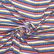 Paarse stoffen - Ptx21 316012-61 Fijn gebreid paars/rood/zwart/blauw