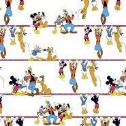 Hobbystoff - Ptx21 669108-10 Katoen Disney mickey and friends wit/multi