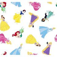 Kinderstoffen - Ptx21 669111-20 Katoen Disney princess wit/multi