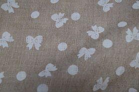 Polyester stof - Ptx20/21 963601-24 Polyester katoen ayour print beige