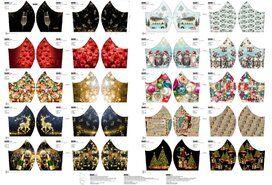 Stenzo stoffen uitverkoop - Stenzo 16143 Paneel mondkapjes kerst NU voor