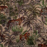 Linnen met viscose - KN21 17808-030 Linnen tijger beige/multi