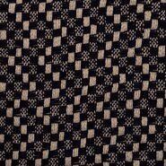 Geruite - KN21 17850-600 Mantelstof Abelia donkerblauw