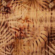 Okergeel - KN21 17860-580 Stretch Cornery Tropical Leaves camel/terra/oker