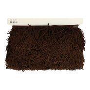 Sierband* - Sierband franje suedine donkerbruin 7,5 cm (98715)*
