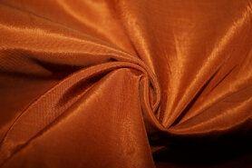 Polyester stof - E63 Satin glossy terra