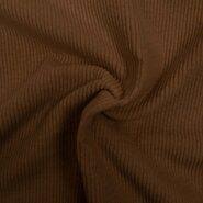 Ribcord en velvet - KN 0779-098 Ribcord stretch lichtbruin
