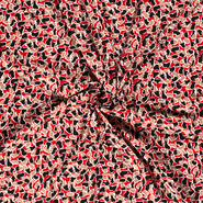 Rode stoffen - NB21 15041-057 Tricot luipaard print rood