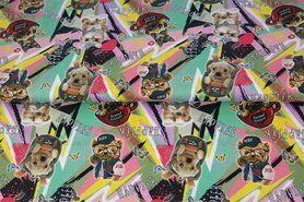 Stenzo Tricot - Stenzo21 17246 Tricot digitaal fantasie happy animals multi