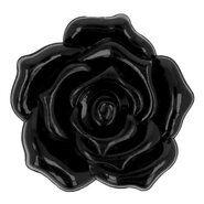 Knopen* - Knoop roos zwart 3 cm 5660-48-000