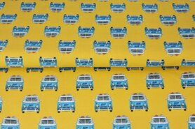 Tricot stoffen - Stenzo21 17204 Tricot digitaal vw bus geel