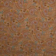 KnipIdee stoffen - KN21 17660-178 Viscose paisley beige