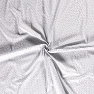 Kleidungsstoffe - Dapper21 15785-061 Katoen bedrukt appels lichtgrijs