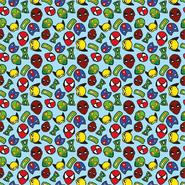Sommer - Dapper21 15805-003 Katoen bedrukt superhelden blauw