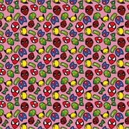 Gewebt - Dapper21 15805-012 Katoen bedrukt superhelden roze