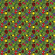 Bettwaren - Dapper21 15805-026 Katoen bedrukt superhelden groen
