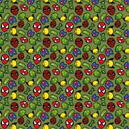 Kleidungsstoffe - Dapper21 15805-026 Katoen bedrukt superhelden groen